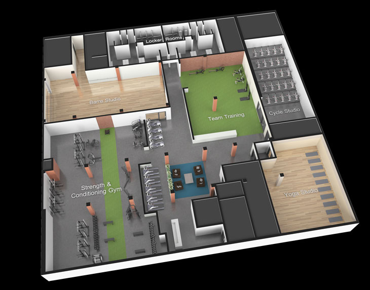 Weight room design layout a modern high school athletic